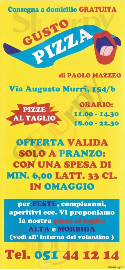 GUSTO PIZZA Bologna menù 1 pagina