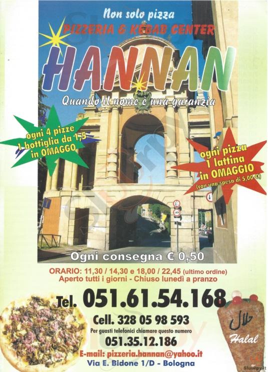 HANNAN Bologna menù 1 pagina