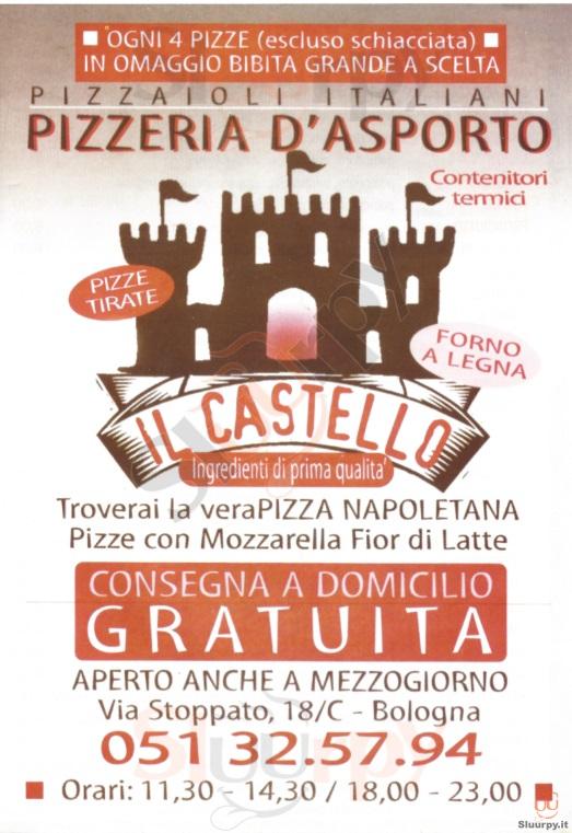 IL CASTELLO Bologna menù 1 pagina