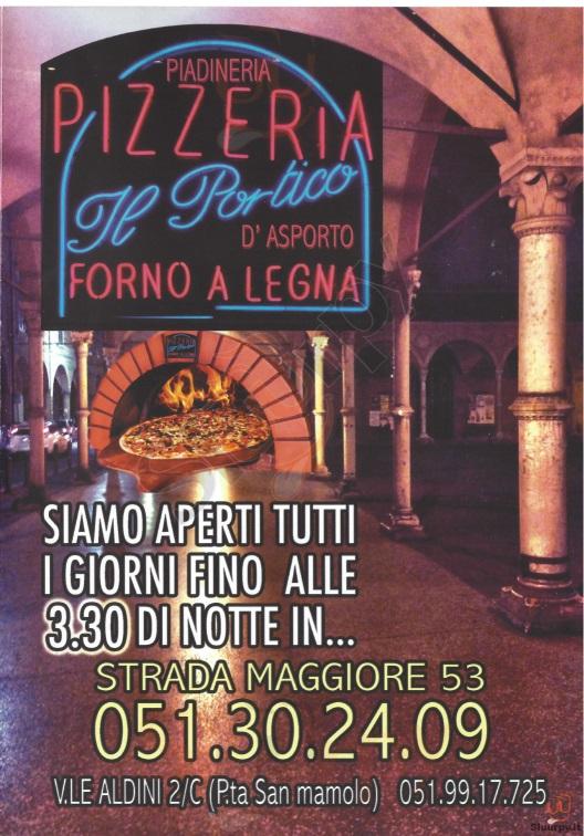 IL PORTICO, Strada Maggiore Bologna menù 1 pagina