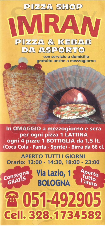 IMRAN Bologna menù 1 pagina