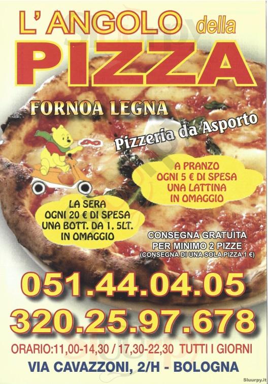 L'ANGOLO DELLA PIZZA Bologna menù 1 pagina
