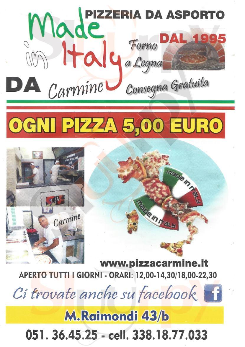 MADE IN ITALY Bologna menù 1 pagina