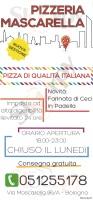 Menu Pizzeria Mascarella
