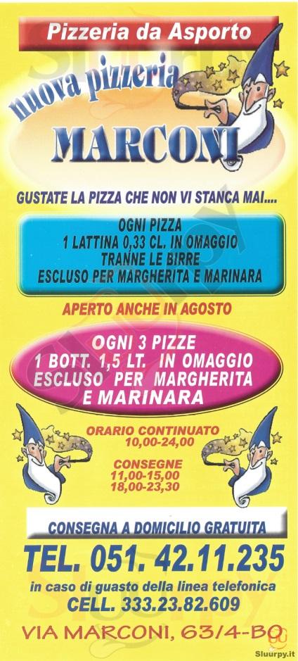 Nuova Pizzeria Marconi Bologna menù 1 pagina