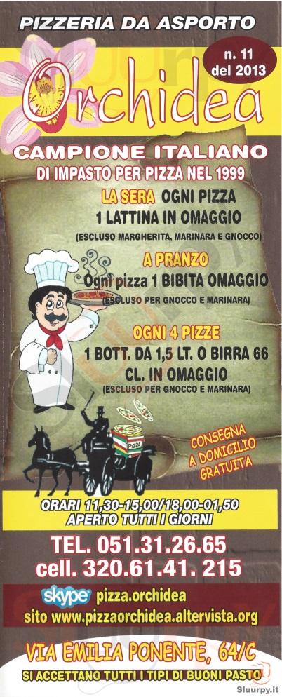 ORCHIDEA Bologna menù 1 pagina