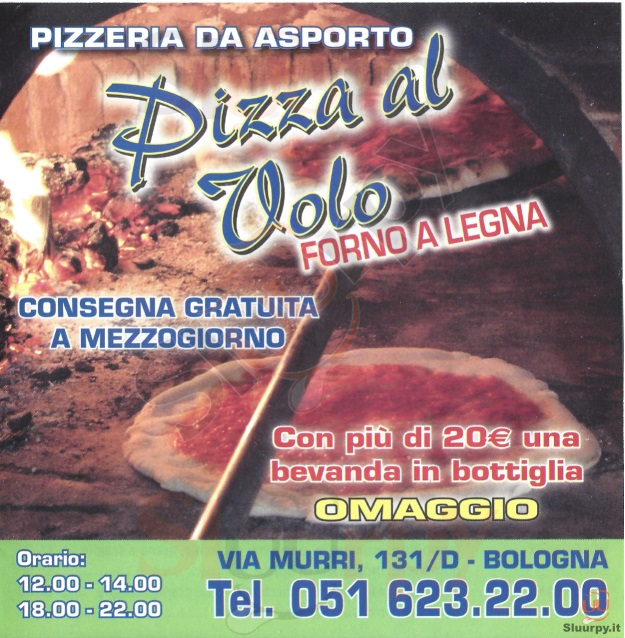PIZZA AL VOLO Bologna menù 1 pagina