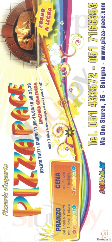 PIZZA PACE Bologna menù 1 pagina