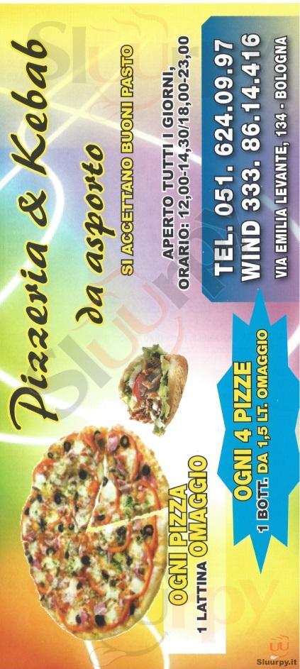Pizzeria & Kebab da Asporto Bologna menù 1 pagina