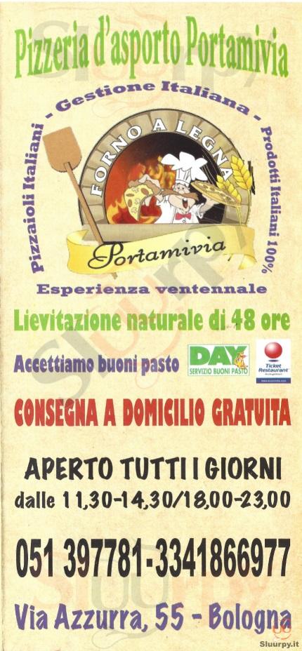 PORTAMIVIA Bologna menù 1 pagina