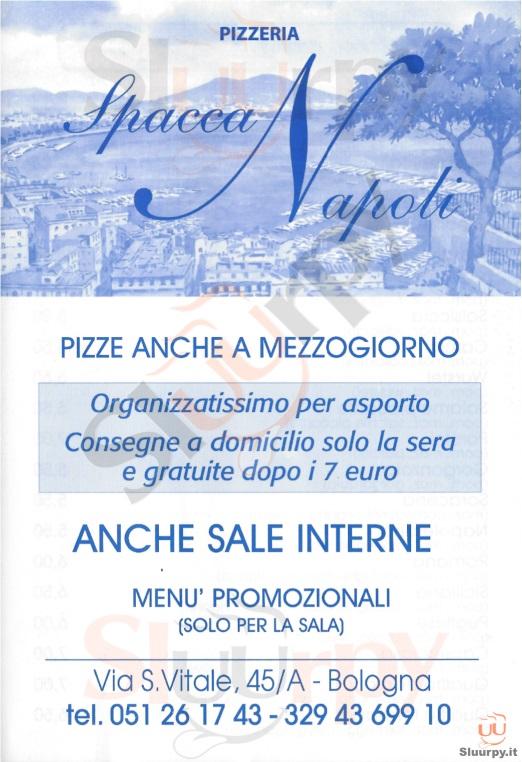 Spacca Napoli Bologna menù 1 pagina