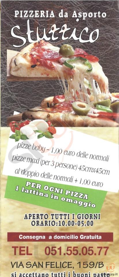 STUZZICO Bologna menù 1 pagina