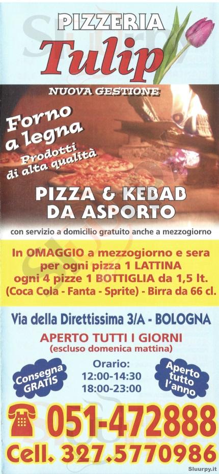 TULIP Bologna menù 1 pagina