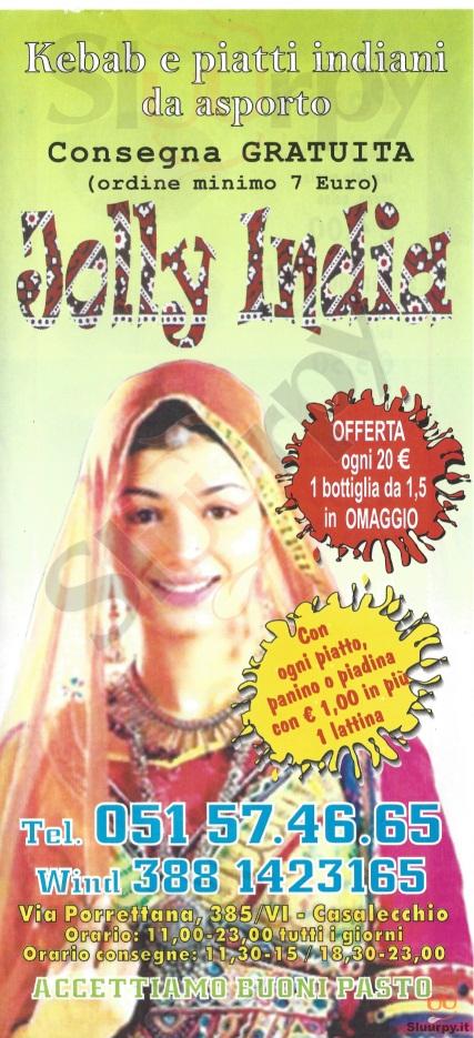 JOLLY INDIA Casalecchio di Reno menù 1 pagina
