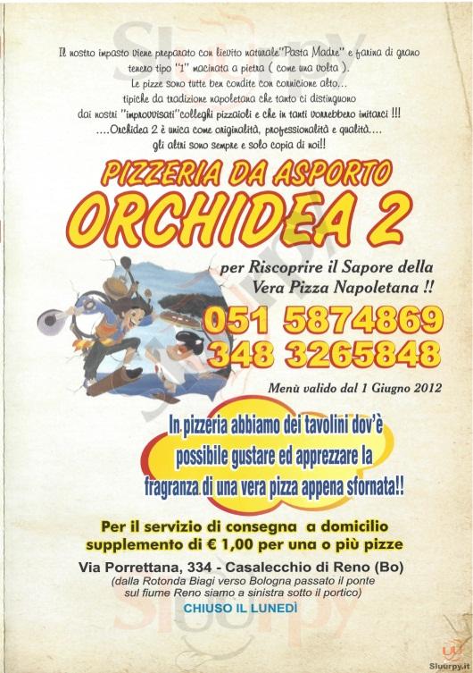 ORCHIDEA 2 Casalecchio di Reno menù 1 pagina