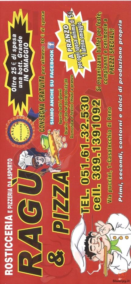 RAGU' & PIZZA Casalecchio di Reno menù 1 pagina