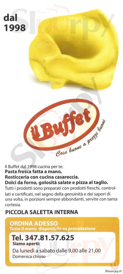 IL BUFFET Castel Maggiore menù 1 pagina