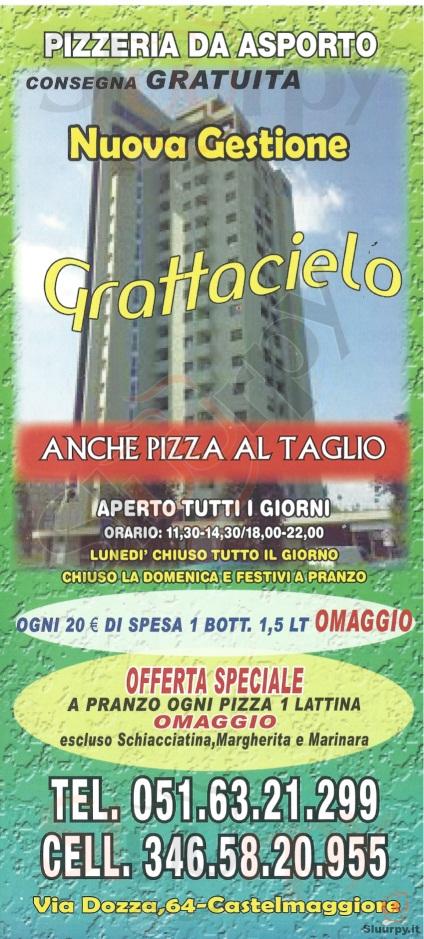 GRATTACIELO Castel Maggiore menù 1 pagina