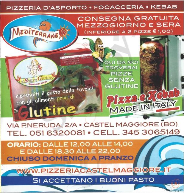 MEDITERRANEO Castel Maggiore menù 1 pagina