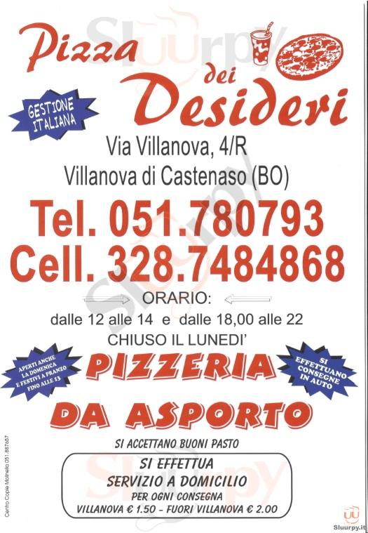 PIZZA DEI DESIDERI Castenaso menù 1 pagina
