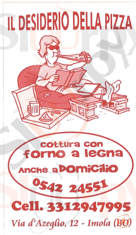 IL DESIDERIO DELLA PIZZA Imola menù 1 pagina