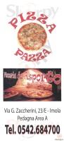 Menu PIZZA PAZZA