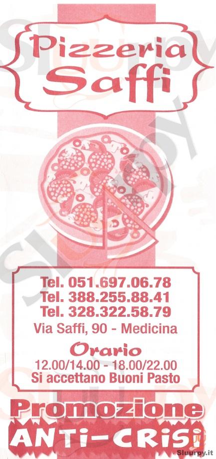 SAFFI Medicina menù 1 pagina