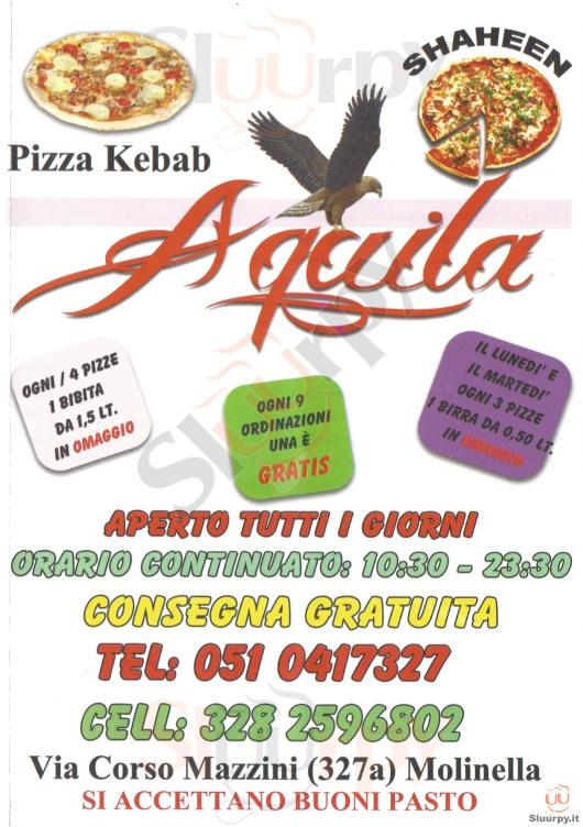 AQUILA Molinella menù 1 pagina