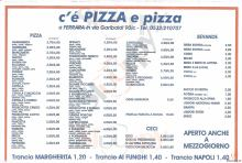 Menu C'E' PIZZA E PIZZA