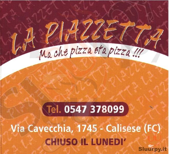 LA PIAZZETTA Cesena menù 1 pagina