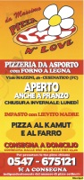 Menu PIZZA N' LOVE