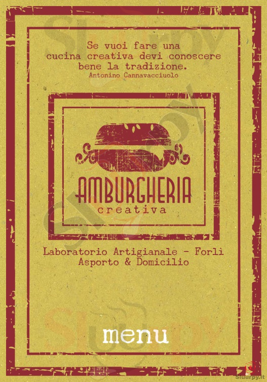 Amburgheria Creativa Forli' menù 1 pagina