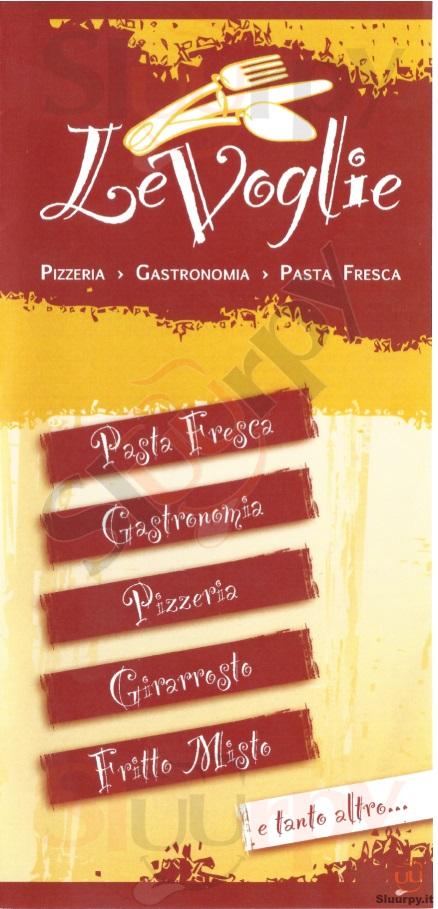 LE VOGLIE Forlì menù 1 pagina