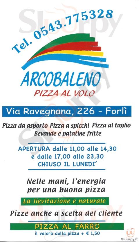 Arcobaleno Forlì menù 1 pagina