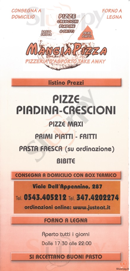 MANGIA PIZZA Forlì menù 1 pagina