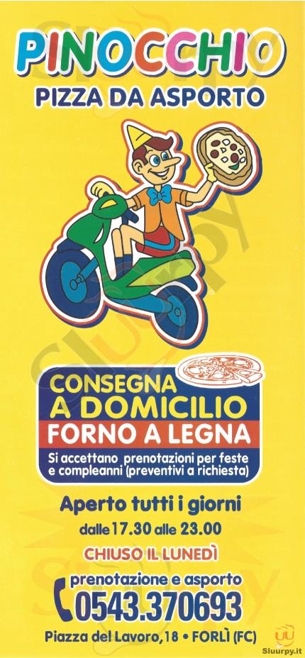 PINOCCHIO Forlì menù 1 pagina
