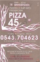 Menu PIZZA AL 45