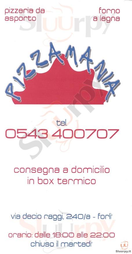 PIZZAMANIA Forlì menù 1 pagina