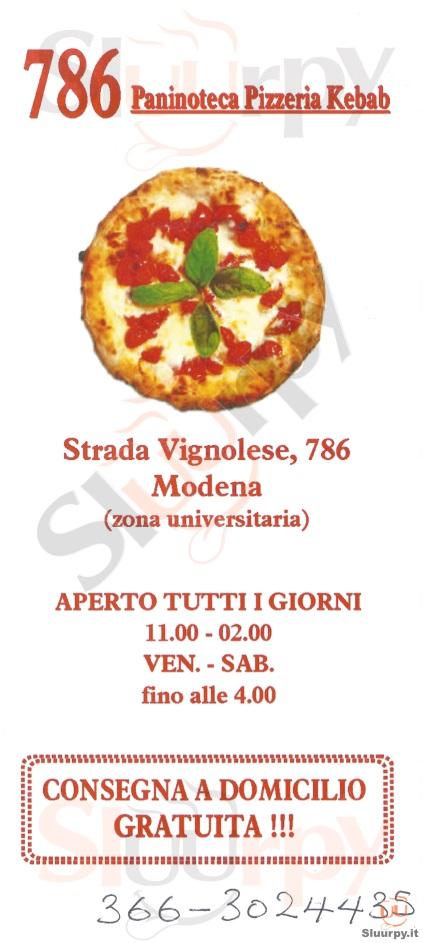 786 Modena menù 1 pagina