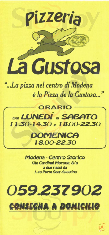 LA GUSTOSA Modena menù 1 pagina