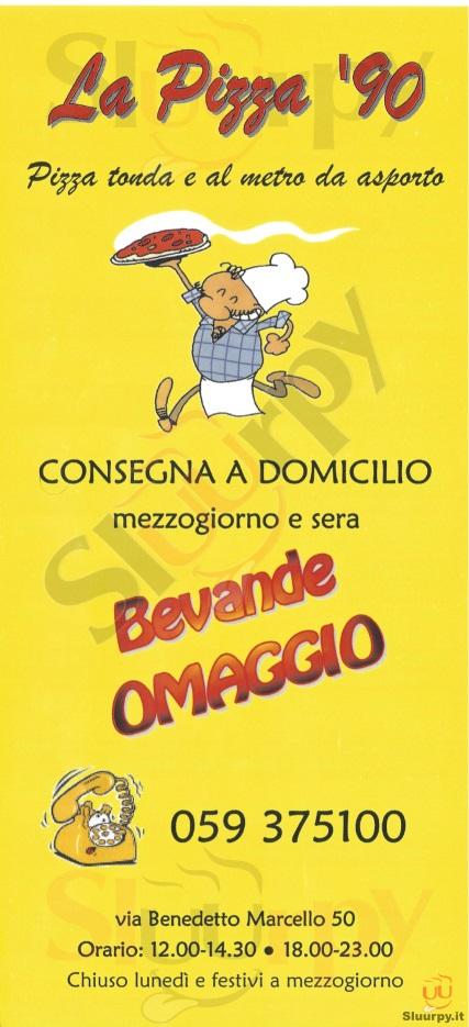 LA PIZZA '90 Modena menù 1 pagina