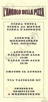 Menu L'ANGOLO DELLA PIZZA