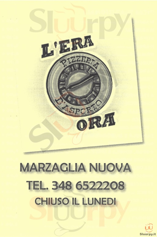 L'ERA ORA Modena menù 1 pagina