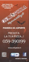 Menu ONLY PIZZA