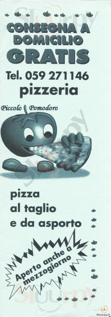 PICCOLO POMODORO Modena menù 1 pagina