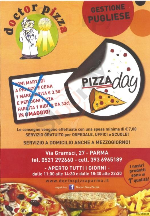 DOCTOR PIZZA Parma menù 1 pagina