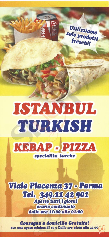 Best Istanbul Pizza & Kebap Parma menù 1 pagina