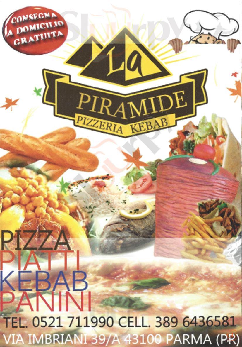 LA PIRAMIDE Parma menù 1 pagina