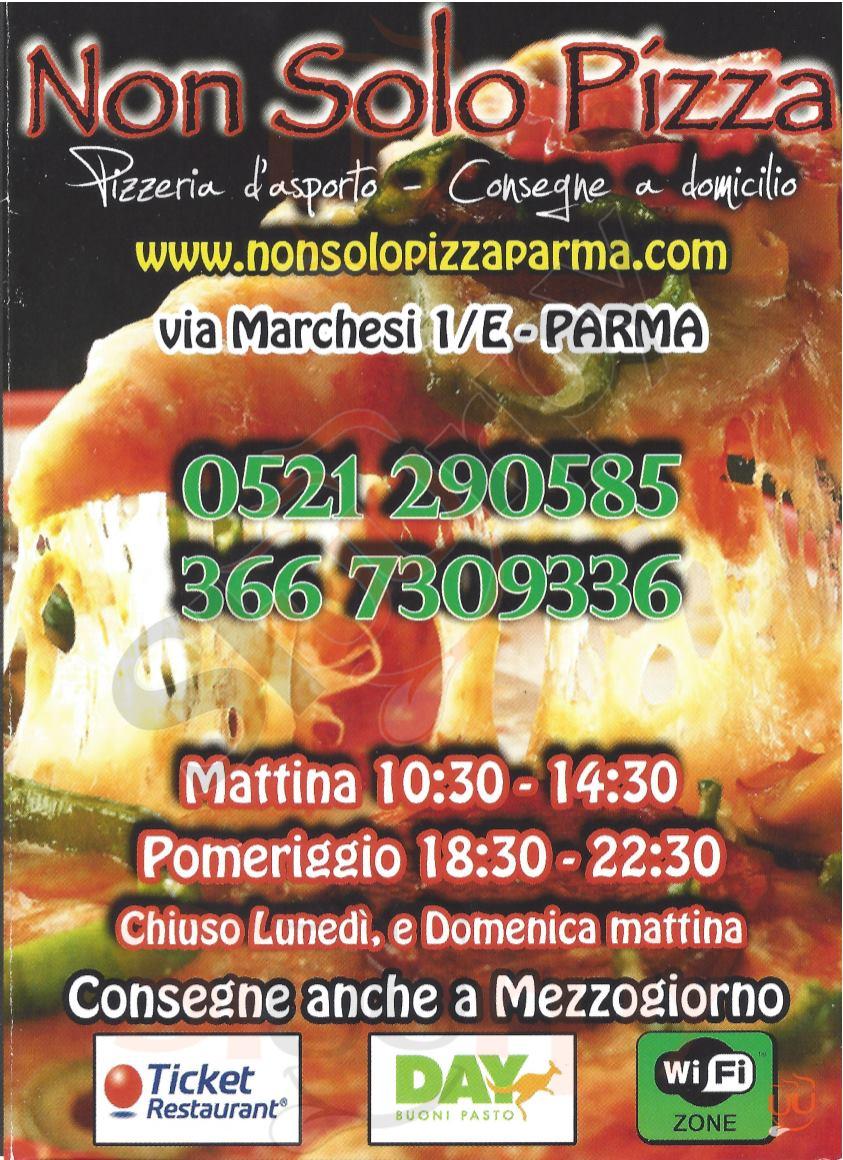 NON SOLO PIZZA Parma menù 1 pagina