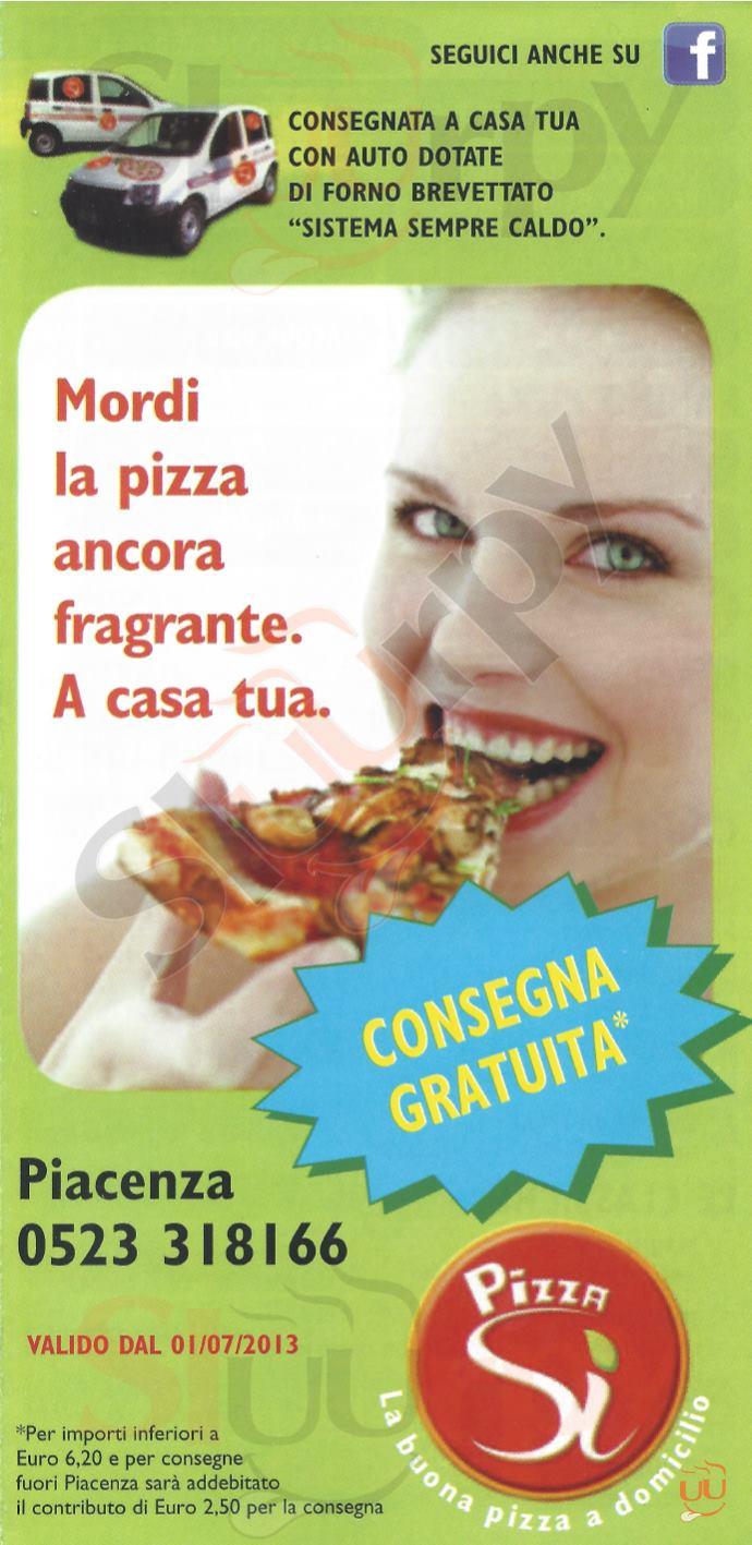 Pizza Sì Piacenza menù 1 pagina